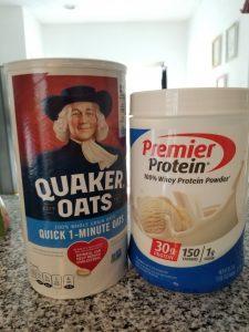 Oatmeal Protein Powder Breakfast