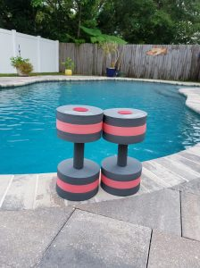 Dumbbell pool weights